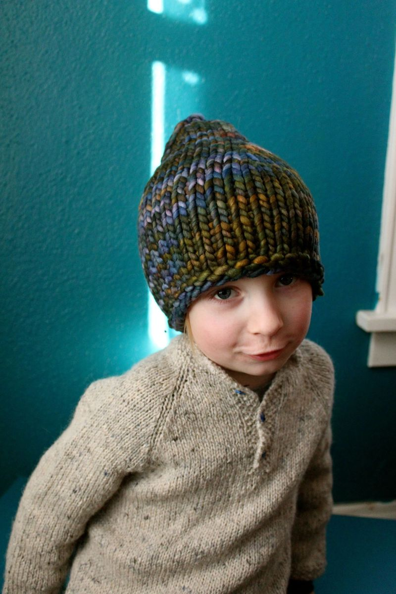 Child placked sweater filled 2