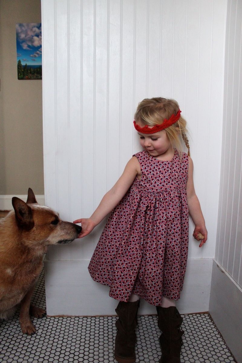 Paisley geranium with dog