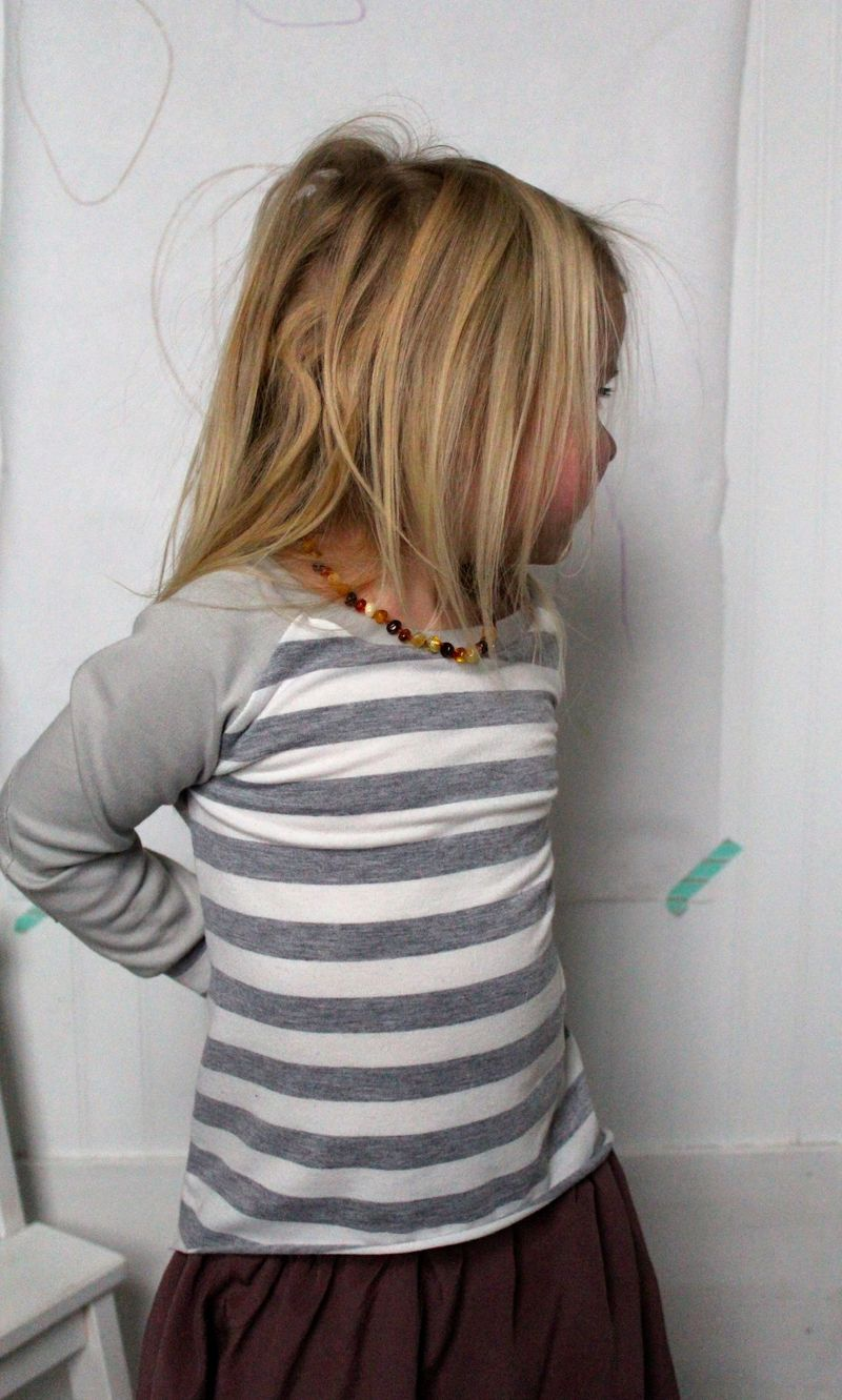 Hi Lo Swing in Stripes Side View