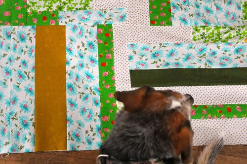 Ulla and the Speed Square Quilt