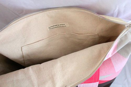 Pink Geo Tote Interior by Brienne