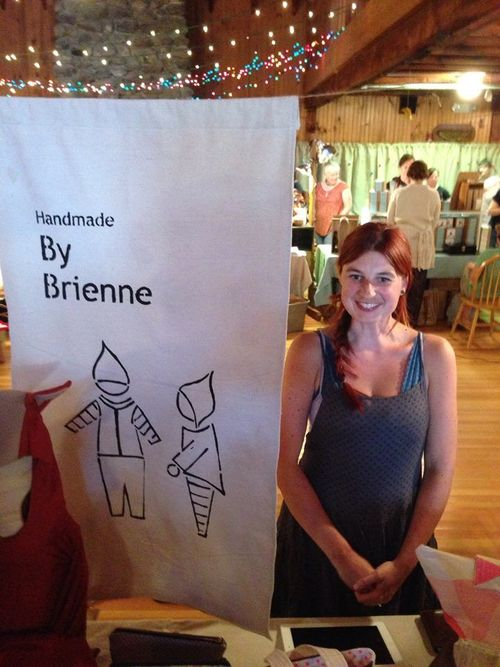Brienne at the Squam Art Fair