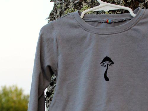 Mushroom Hi Low Tee by Brienne