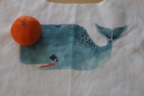 Whale Fabric from Spoonflower