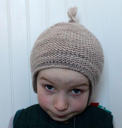 Garter Earflap Hat By Brienne