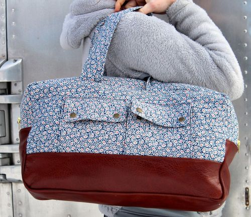 Happy Dance Duffle in Paisley by Brienne