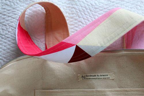 Pink Geo Tote Inside by Brienne
