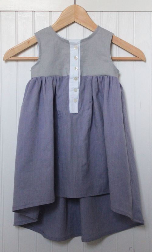 Hi Low Geranium w: Front Button Placket by Brienne
