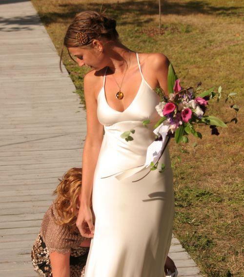 Brienne's Wedding Dress and Mom