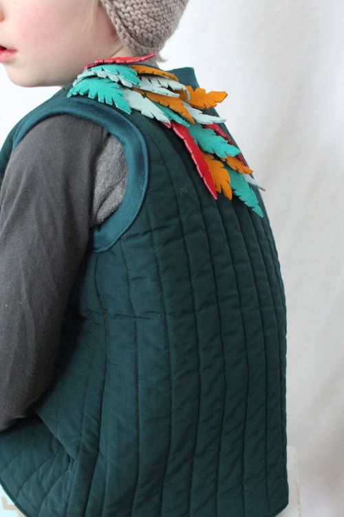 Leather Feathered Vest By Brienne