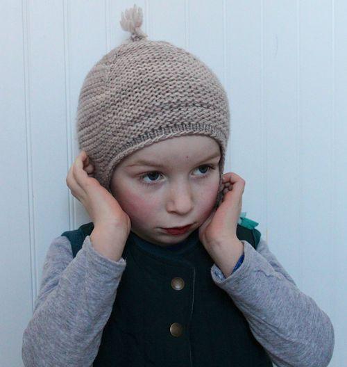 Garter Ear Flap Hat By Brienne