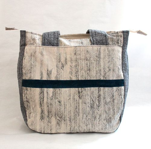 Super Tote in Herringbone by Brienne