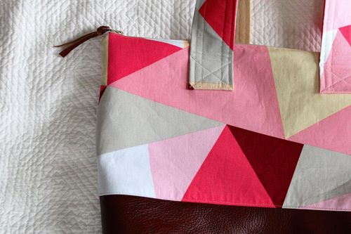 Pink Geo Tote to Be by Brienne