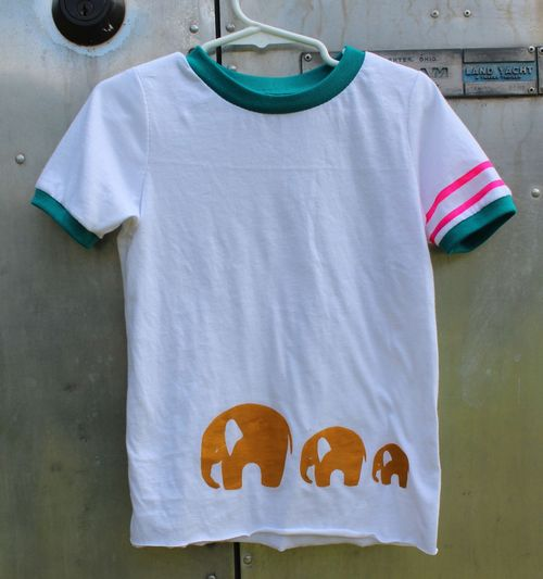 Elephant Stamped Tee by Brienne