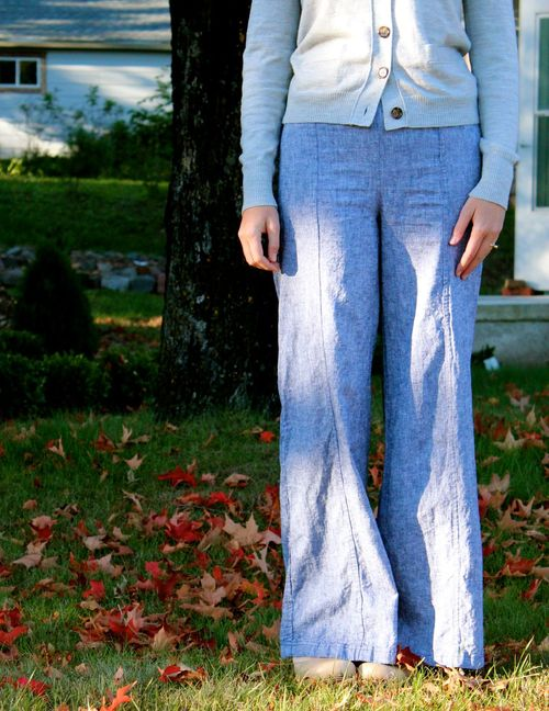 Handmade wide leg pants