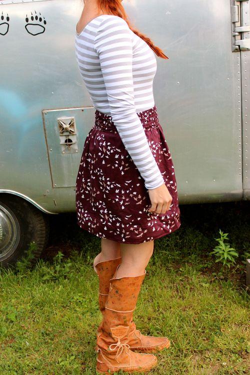 Nettie plus high waisted skirt