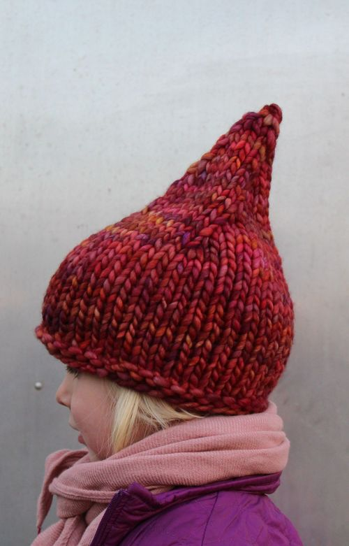 Cranberry Gnome Hat