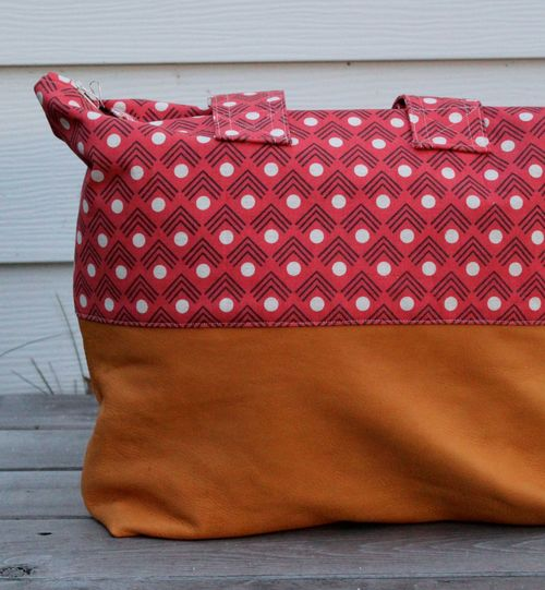 Kokka Fabric and Buckskin Bag